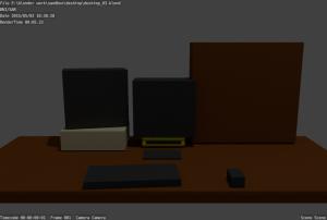 blender image of my desktop, early in modeling process